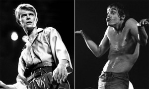 David Bowie and Iggy Pop in 1978 and 1977 respectively