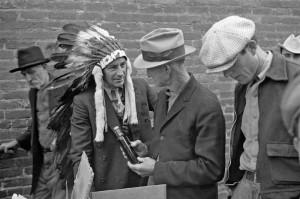 Ben Shahn - Medicine show, Huntingdon, Tennessee, 1935